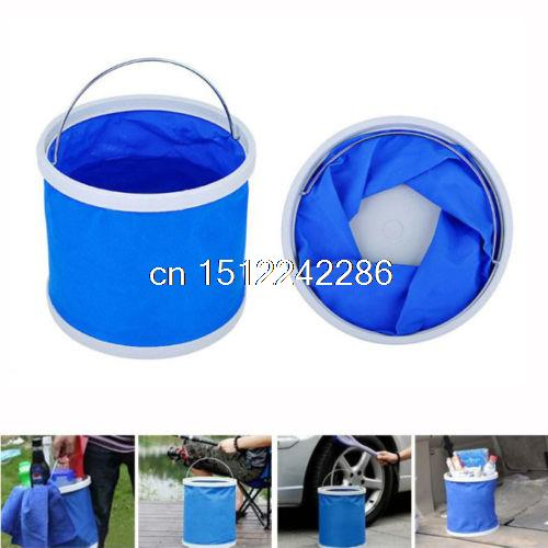 Blue Fishing Boating Camping Car Wash Clean Portable 11L Folding Water Bucket alocs the guest 11 l outdoor bucket portable water tank fishing folding bucket car wash bucket bucket purity