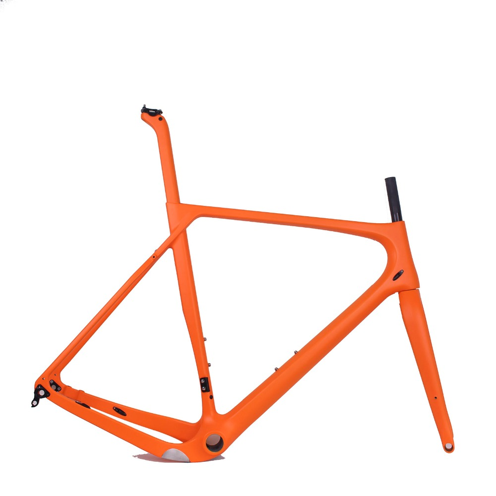 2018 P New Model Carbon Road MTB Gravel Bike Frame Full Internal Cable Size S/M/L/XL Fit 142*12mm Rear Axle Gravel Bike