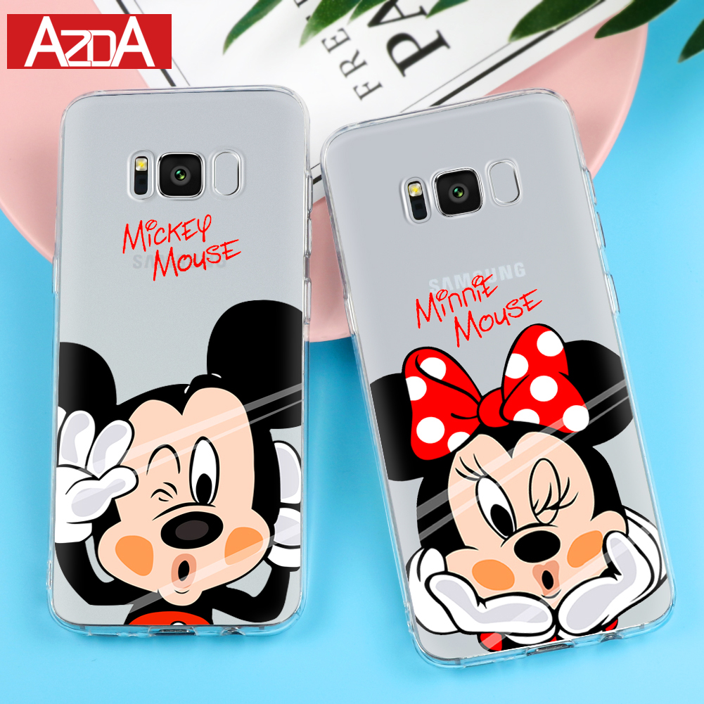 Phone Pouch Alert Cute Cartoon Stich Coque Shell Soft Silicone Tpu Phone Case For Samsung Galaxy S6 S7 Edge S8 S9 Plus Note 9 Note 8 Top Watermelons
