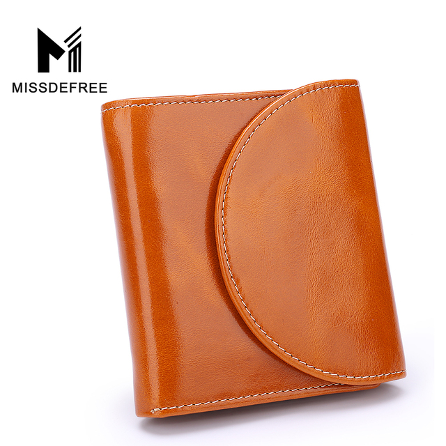 ab105b2dcfe3 US $33.92 |Womens RFID Blocking Wallet Classic Clutch Genuine Leather Small  Wallet Ladies Zippers Card Holder Female Cowhide Purse Handbag-in Wallets  ...
