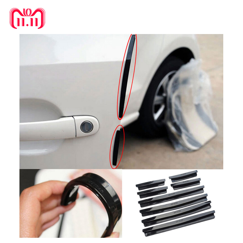Auto Car Door Guard Edge Corner Bumper 8Pcs/Set Guards Buffer Trim Molding Protection Strip Scratch Protector Car Door Crash Bar speedwow 8m car door edge guard scratch strip protector rubber trim molding scratch strip for toyota audi bmw vw ford