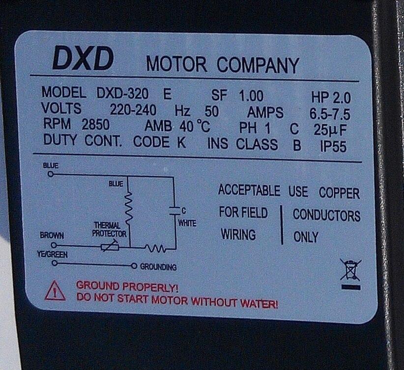 DXD-320E 2.0hp / 1.5kw spa pump & hot tub Pump for chinese spa ...
