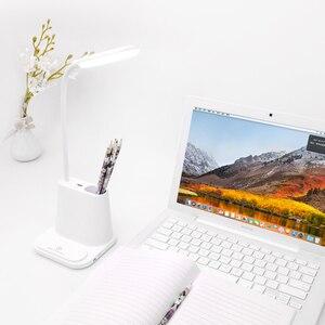 Image 4 - 0   100% Touch Dimmable Led โคมไฟตั้งโต๊ะ USB แบบชาร์จไฟได้ปรับสำหรับเด็กอ่านหนังสือห้องนอนห้องนอนห้องนอน