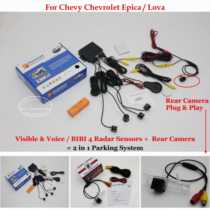 ФОТО For Chevy Chevrolet Epica / Lova - BIBI Alarm Parking System / Car Parking Sensors + Rear View Back Up Camera = 2 in 1 Visual