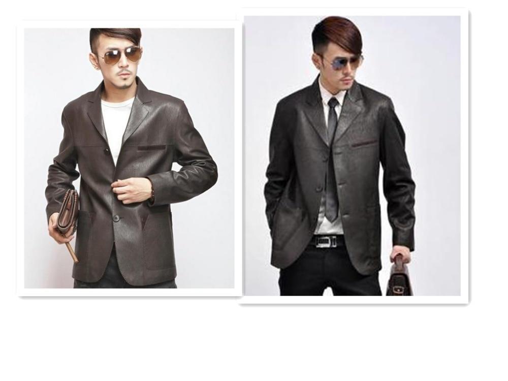 Black Leather Suit Jacket - Jacket