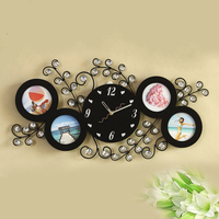 Photo frame wall clock creative mute wall watch livingroom clocks wall home decor wall clock modern design digital