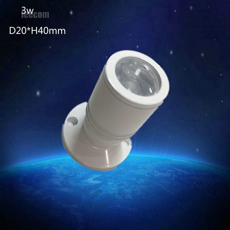 20pcs/lot Mini Led Spot Light Cabinet Lamp 3w High Power Led White Warm White AC85 277V Indoor Lighting-in Spotlights from Lights & Lighting    1