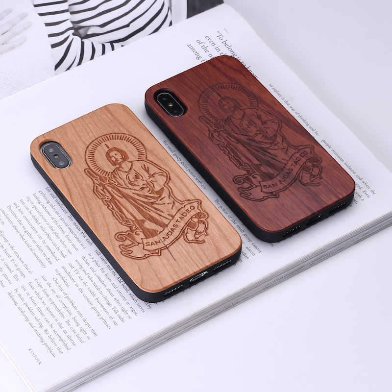 Mandala Floral Étnico Mexicano do vintage Estilo Caixa De Madeira Para O iPhone 7 6 Plus 8 8 Mais XS Max Caso Coque telefone Para SAMSUNG S8 S9lus