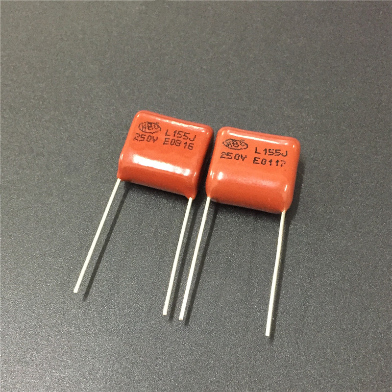 10PCS CL21 155J 250V 1.5UF 1500NF P15 Metallized Film Capacitor