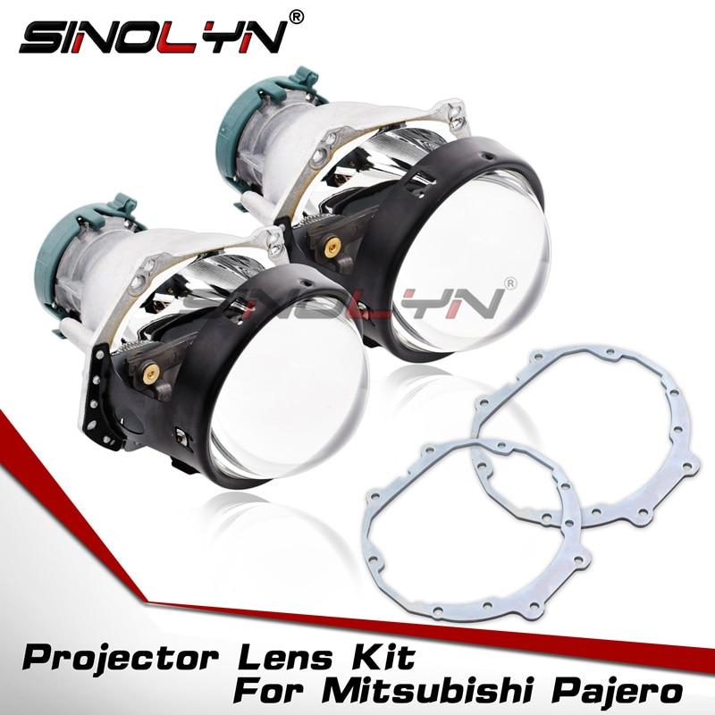 Pour Hella 3R G5 HID Bi-projecteur xénon Lentilles Cadre Accessoire Adaptateur Set Remplacer Pour Mitsubishi Pajero Wagon Phare Rénovation