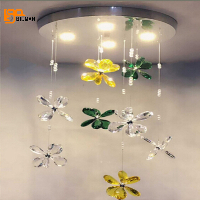 New design colorful chandelier modern lampe cristal LED light ...
