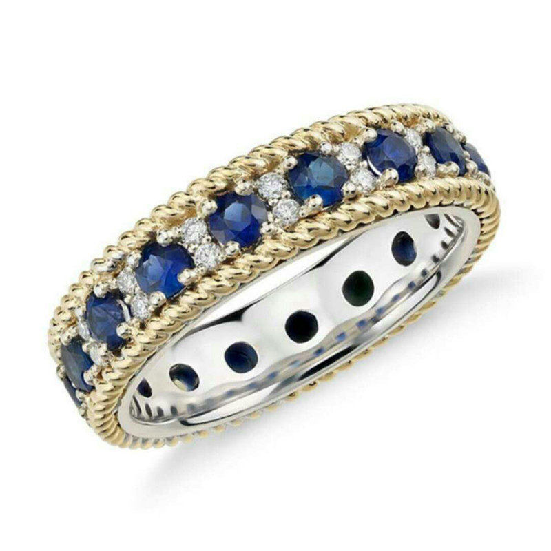 Die Blau Engagement Ring Für Mode Frauen In Europa Und Die Vereinigten Statestrue 925 Sterling Silber Mode Jewelryswqucl äSthetisches Aussehen Schmuck & Zubehör