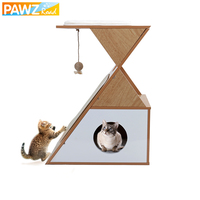 Cat Tree Multi layer Cat House Bed With Detachable Scratching Post Wood Jumping And Climbing Frame With Ball Toy Cat Furniture