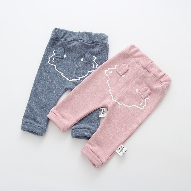 2017 spring new arrival cute Infant Baby Boys Girls back cartoon Bottom Harem Pants Leggings Pants Trousers for 0-24M drop ship