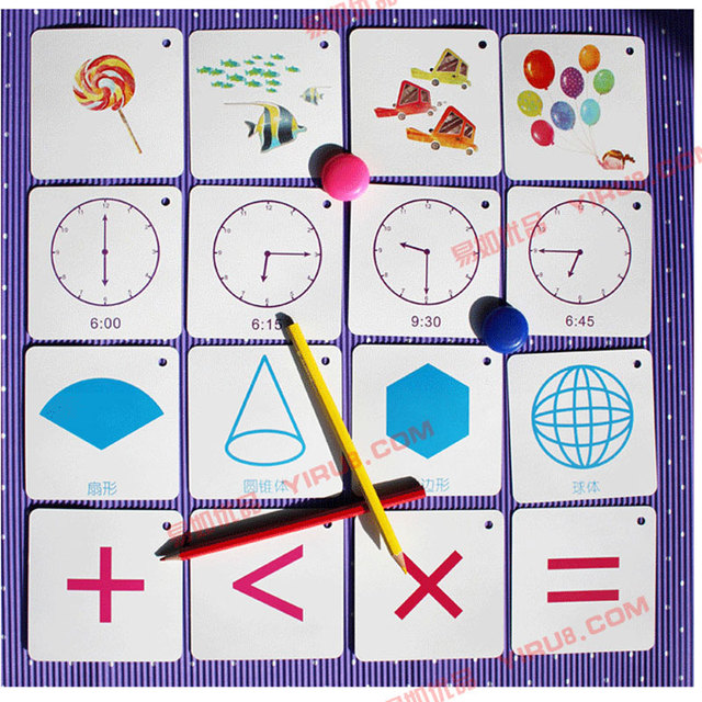 100pic Interesting Learning Digit 0-100 Math Operation English Time Card Book Early Eductional Training For Kid Children Student 3