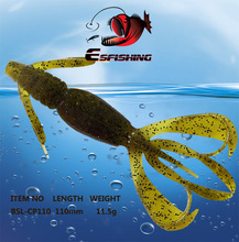 Iscas Artificial Pesca Silicone Bait 5pcs Fishing Lure Soft Lures  11cm/11.4g Crazy Flapper Swimbait Carp Fishing Tackles