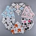 Новое прибытие младенца хлопка нагрудники много слюны полотенце стрелка лиса животных биб олень новорожденный розовый треугольник отрыжка биб аксессуары B11222