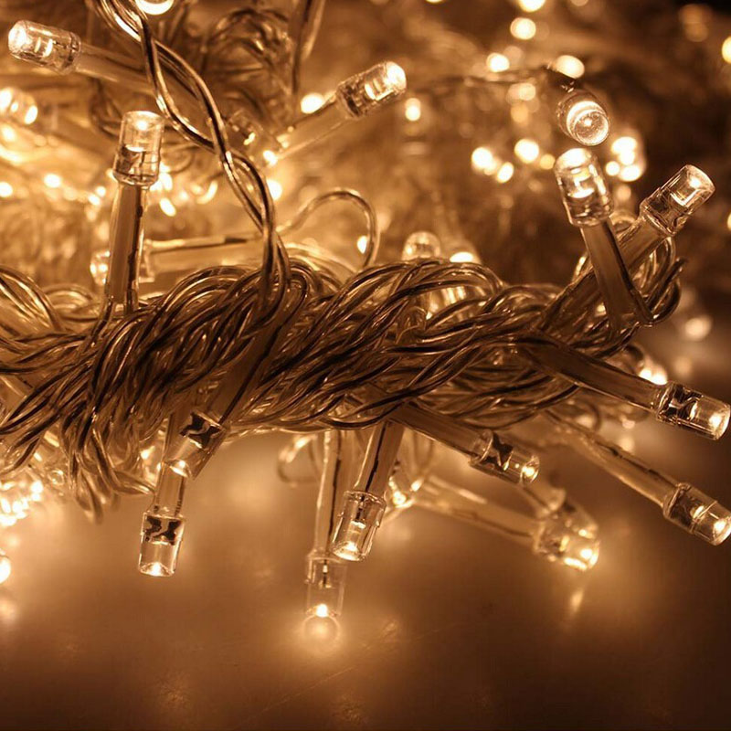 Mxm  Led Outdoor Holiday Lighting Christmas Decorative Xmas Curtain String Fairy Garlands Party Wedding Light Usv Euv In Led String From Lights