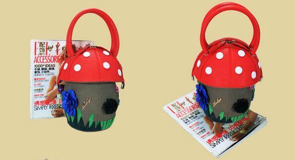 Bolsas Feminina Polyester Sale Real 2018 Cute Handbag Sweet Shape Mushroom Portable Personalized Design Small And Exquisite hot sale mushroom glassland bottle pattern square shape pillowcase