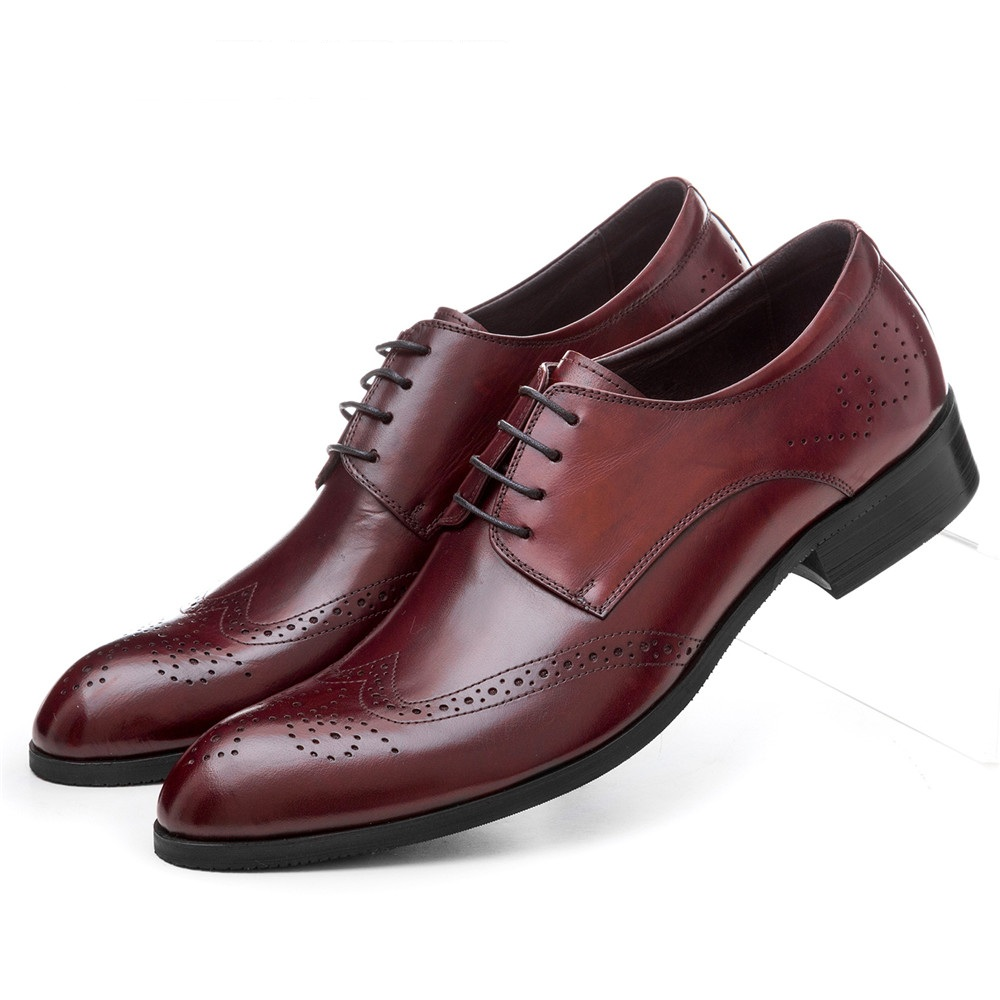 Large size EUR45 Breathable black / brown tan oxfords mens business shoes genuine leather dress shoes mens wedding shoes сумка hidesign business fleming 03 fleming 03 brown