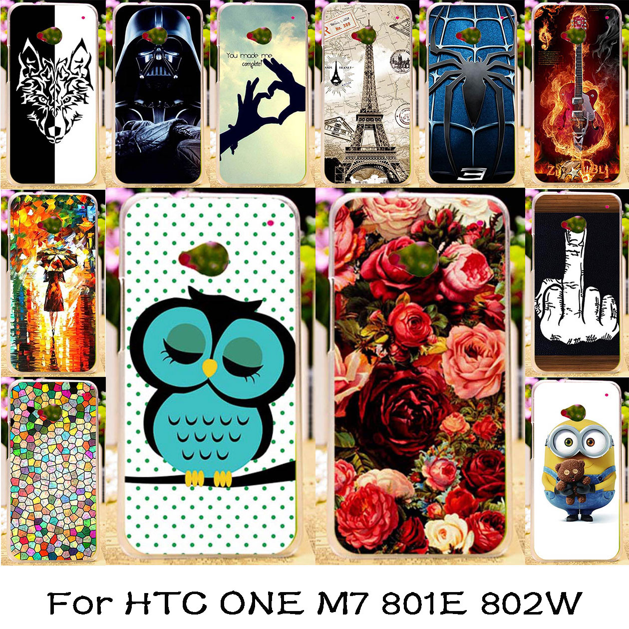 TAOYUNXI Silicone Phone Case For HTC ONE M7 802W Dual Sim 802D 802T 801E 801S Single Sim 801 Housing Bag Cover Shell Cover