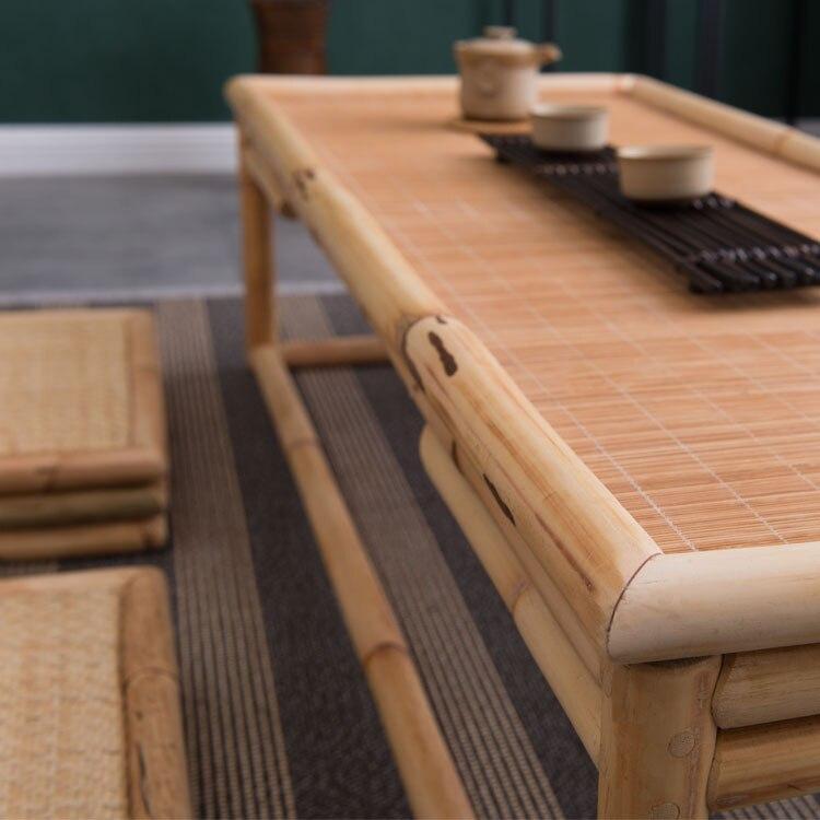 Vintage Rattan Indoor Bamboo Furniture Floor Table 100*40cm Asian Style  Tatami Coffee/Tea Living Room Low Tea Table Bamboo Table In Coffee Tables  From ...