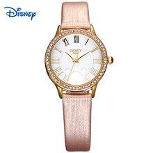 Disney новый Наручные Часы Дамы Наручные Часы Микки Женщины Бренд Знаменитые Часы Кварцевые Часы платье Кварцевые часы Relogio Feminino