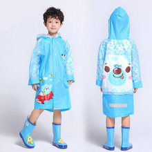 2015 EVA Brand Fashion Kids Raincoat Rain wear Schoolbag Child Outdoors Tour Thick Ponchos Chubasquero