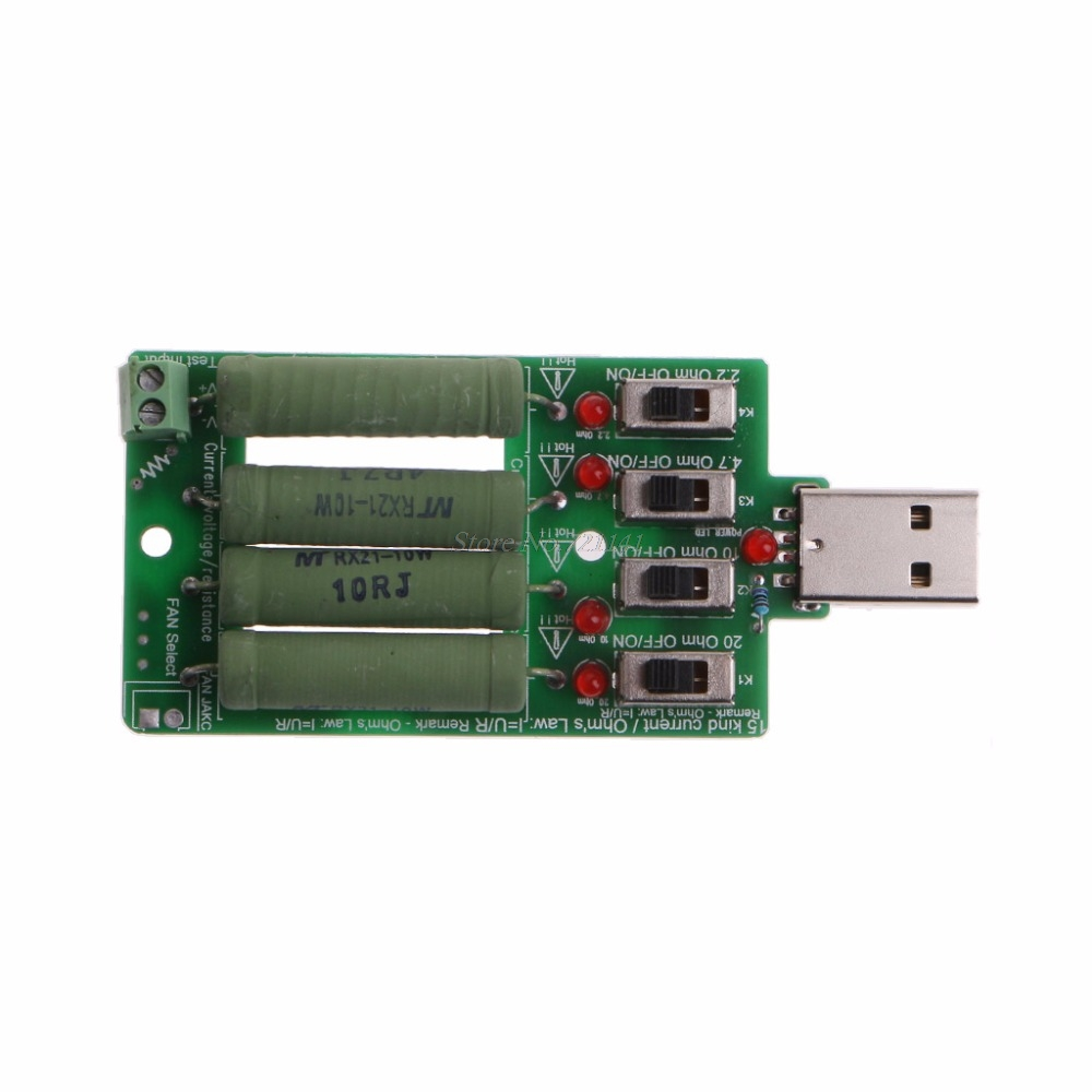 USB Electronic Load Discharge Resistance Resistor Adjustable 15 Current Tester USB Test Dropship