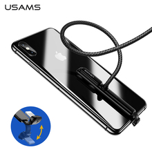 USAMS Lighting Gaming Charging Cable for iPhone X 8 7 6,Type C Mobile Phone Game Data Cable for Samsung S9 S8 Plus Honor 9 10
