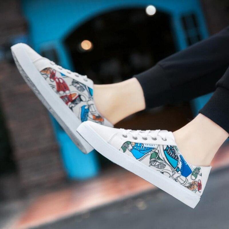 1 Toile Conception De Printemps Imprimer Pour Hommes 2 Étudiant up Mode Dentelle Skate 2018 3 Chaussures Sneakers Nouveau automne Sport FAEqT
