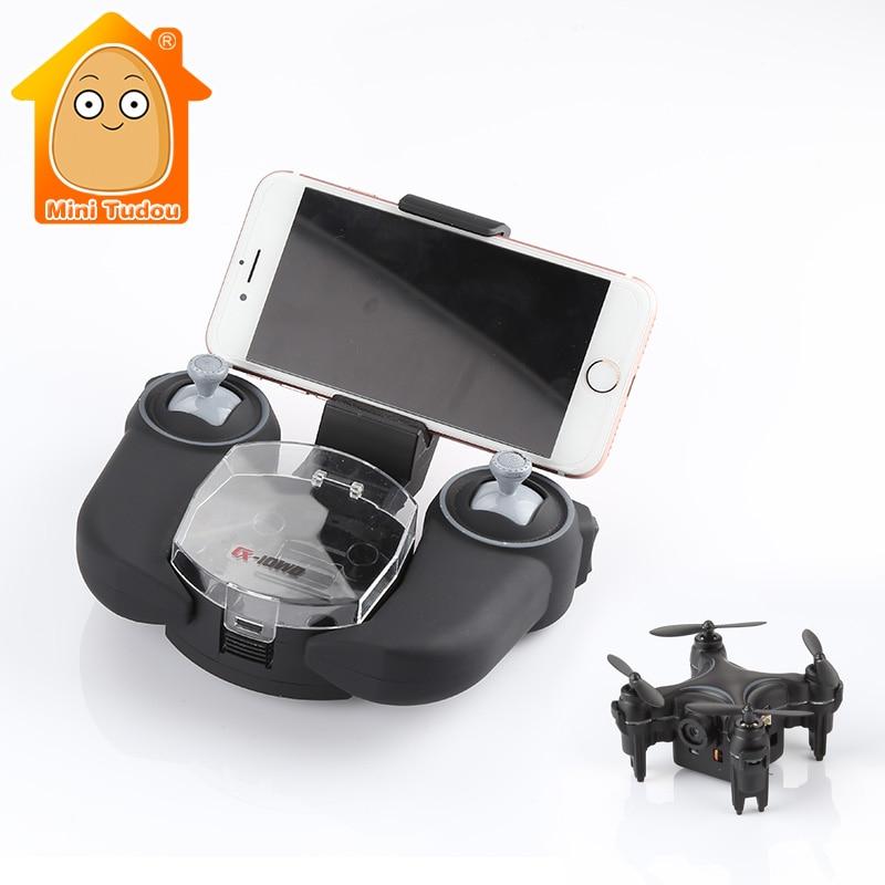 ФОТО MiniTudou CX-10WD CX10WD CX-10WD-TX Mini Wifi FPV High Hold Mode 0.3MP Camera  Phone Control RC Quadcopter RTF