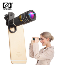 APEXEL 20X Zoom lens Telescope monocular for iPhone X 7 8 android smar