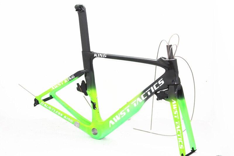 Углеродные рамы дорожных велосипедов 1 1/8 1 1/4 гоночный велосипед шоссейная велосипедная углеродная рама + вилка + подседельный штырь + руль