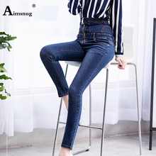 2019 Jeans for Women black Jeans High Waist Jeans Woman Elastic plus size Stretch Jeans female washed denim skinny pencil pants fashion s xxl autumn high waist jeans high elastic plus size women jeans woman femme washed casual skinny pencil denim pants