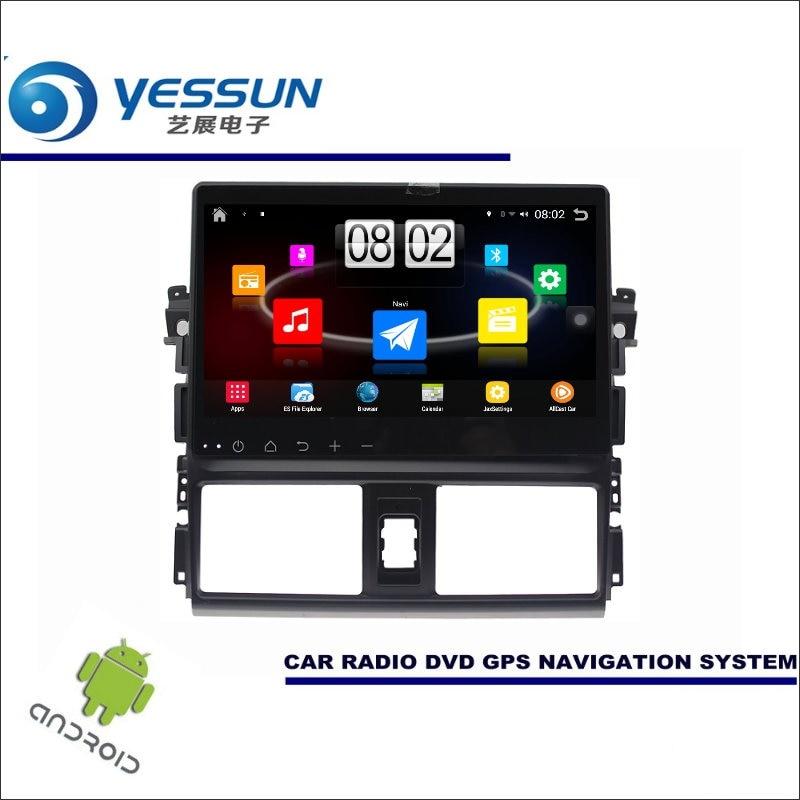 Yessun автомобиля Android мультимедийный плеер для Toyota Vios XP150/Yaris седан Радио стерео GPS nav Navi (без cd DVD) 10.1 HD Экран