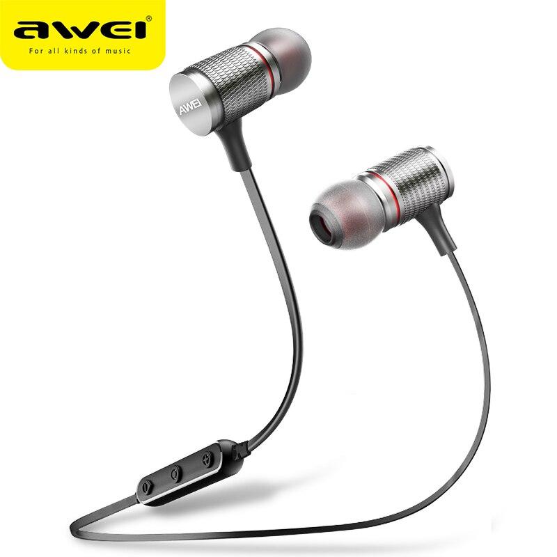 AWEI T12 Bluetooth Casque Sans Fil Écouteur Casque Pour Téléphone Auriculares kulakl k Sans Fil Écouteur Bluetooth V4.2 Casque