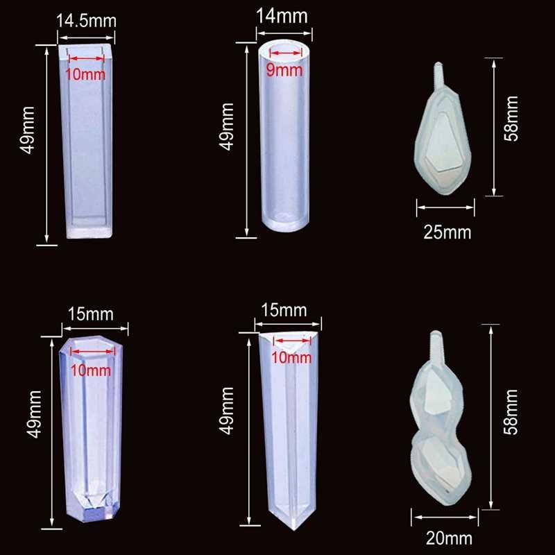 シリコーン樹脂キットジュエリー鋳型ツールセット付属ジュエリーペンダント金型、スタッドピアス、目スクリューピンと作る T