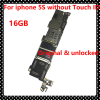 Original Motherboard For Iphone 5S Without Touch ID 16GB Unlocked Phone Circuits Clean ICloud IOS System
