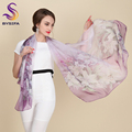 2016 Autumn Winter Long Silk Scarf Shawl Fashion Female Long 100% Mulberry Silk Scarf Summer Thin Silk Chiffon Beach Scarf Wraps