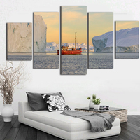 The Arctic Ocean Canvas Paintings Canvas 5 Piece Wall Art Fashion Poster and Prints Monet Style Scenery Photography Printed