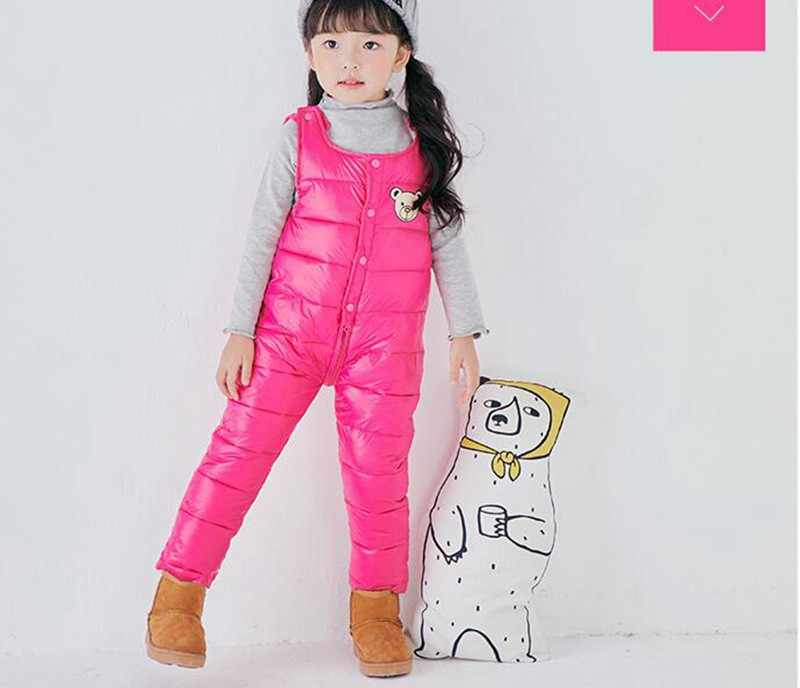 COOTELILI Cotton Winter Overalls Padded Outdoor Romper Pants High Quality Baby Girls Boys Jumpsuit Kids Clothes  90-110cm