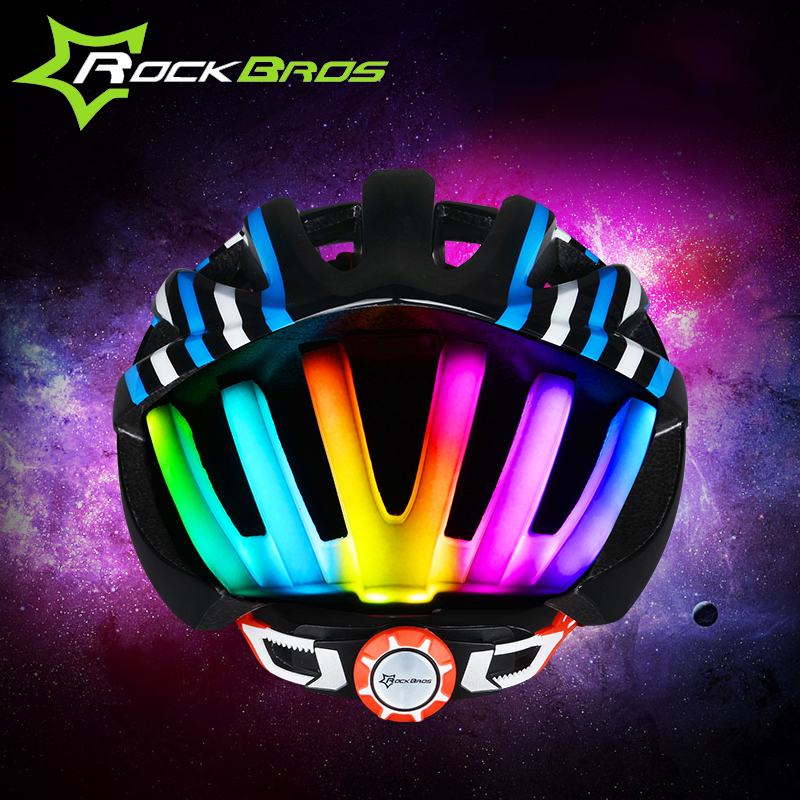 ФОТО RockBros Bicycle Helmet With Tail Light  In-molded MTB Road Bike Cycling Helmet Casco Capacete Ciclismo Men Women 56-62cm Size
