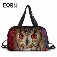 FORUDESIGNS Classic Galaxy Star Owl Travel Boarding Bag Weekend Bag For Men Personalized Animal Carry On