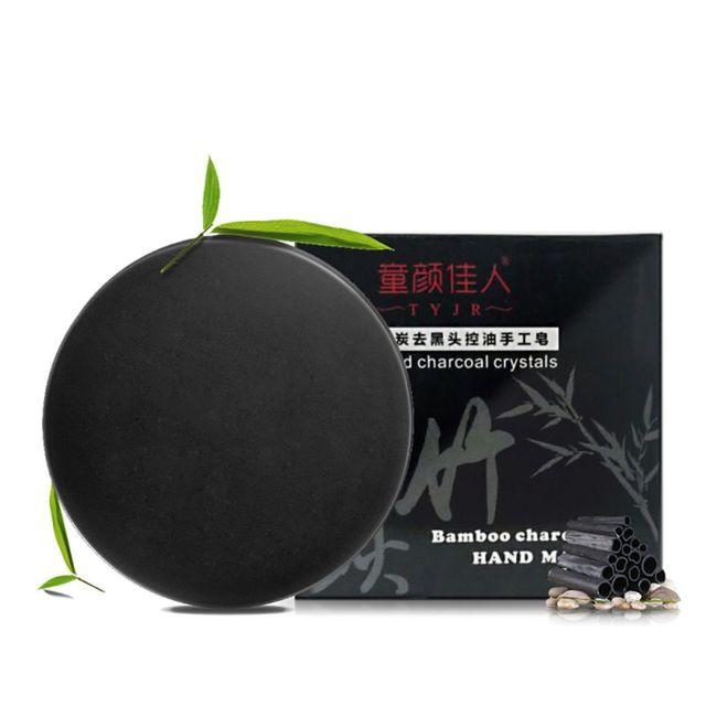 Handmade Bamboo Charcoal Soap Purify Blackhead Deep Clean Carbon Oil Control Soap Face Care
