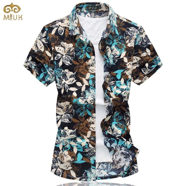 04281c41 Super Large Size Floral Cotton Chemise Homme 7XL 6XL Brand Clothing Slim  Fit Camisa Masculina Summer