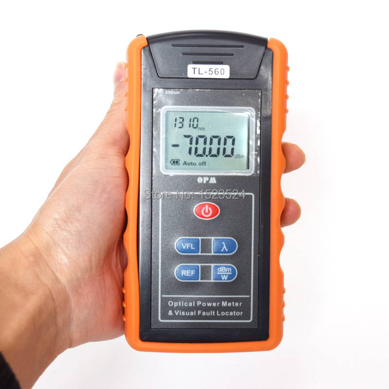 TL-560A All In One Optical Power Meter -70~+10dBm and Visual Fault Locator 10mw