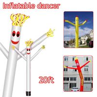 20ft/6m Wind Dance r Tube Man Cartoon Inflatable Dancing Air Puppet Out Door Air Sky Dancing Man For Advertising