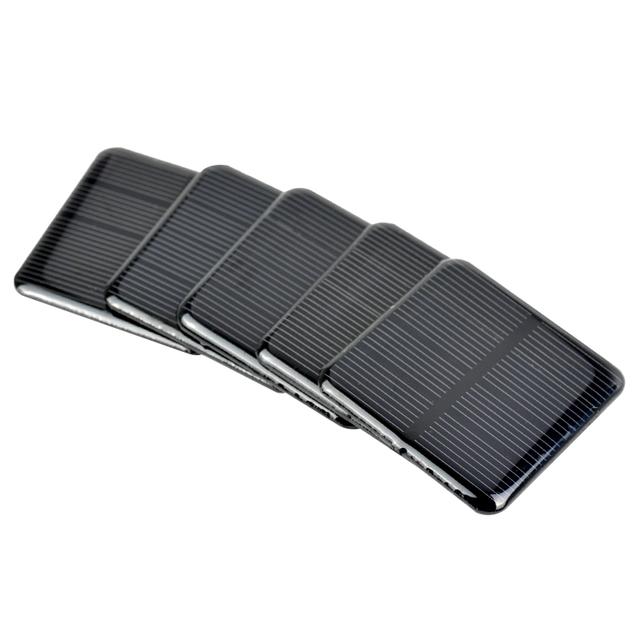 Aoshike 10pcs Epoxy Solar Panels 2V 160MA Monocrystalline Silicon Solar Cells  DIY Solar 50*50mm