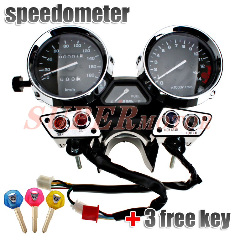 Gauges Speedometer Tachometer Cluster Assembly fits for  YAMAHA XJR400 1992 1993 1994 KM/H New scooter parts gauges cluster speedometer tacho odometer fits for kawasaki zrx400 zrx750 zrx1100 kmh free shipping